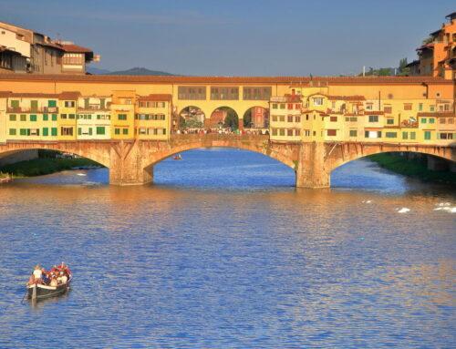 Gita in barchetto sull'Arno